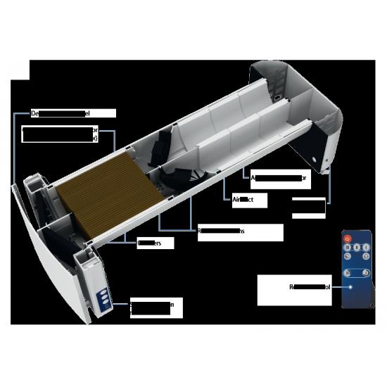 Échangeur d'air à récupération d'énergie sans conduit Vento DUO A30-1 Double ventilateur