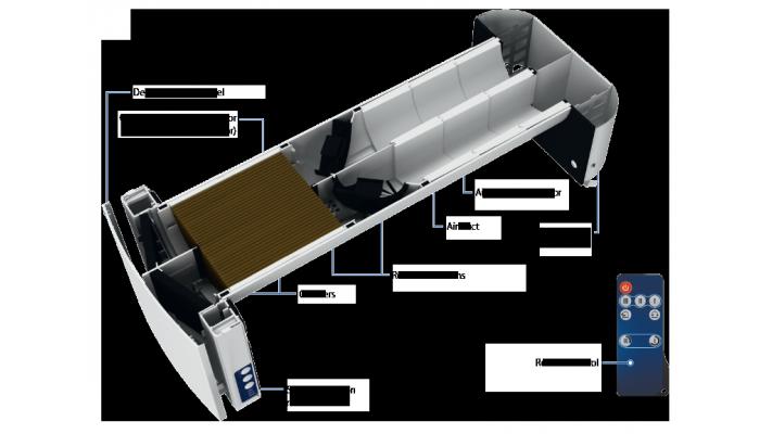 Ventilateur sans conduit à récupération d'énergie Vento DUO A30-1 Double ventilateur